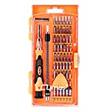 Multi-magnetic screwdriver: 63 in 1 precision screwdriver set is designed to repair all popular laptops, phones, game consoles and other electronic products. The kit contains 56 different drill bits, these bits are made of chrome vanadium steel, with...