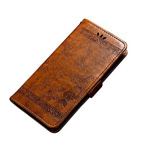 CiCiCat WIKO View 2 GO Hülle Handyhüllen, Flip Back Cover Hülle Schutz Hülle Tasche Schutzhülle Für WIKO View 2 GO Smartphone. (5.93'', Braun)