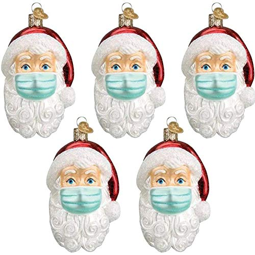 DUWIN Anhänger Weihnachtsmann mit Maske, Weihnachtlicher Baumschmuck Weihnachtsbaum Anhänger Christbaumschmuck Baumschmuck Zur Weihnachtsdekoration,1PCS