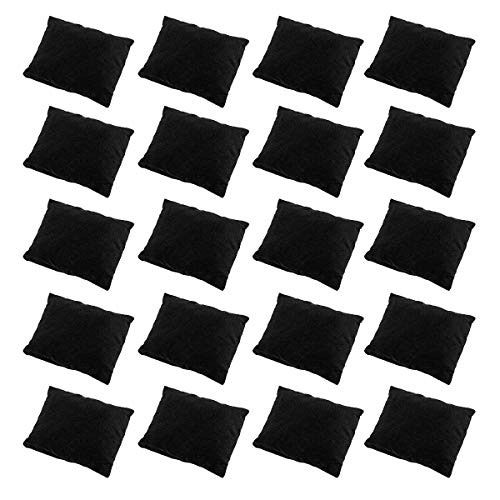Sdoot 20 Pieces Velvet Bracelet Watch Pillow, Small Black Velvet Pillow Jewelry Pillow Watch Bracelet Bangle Cushions
