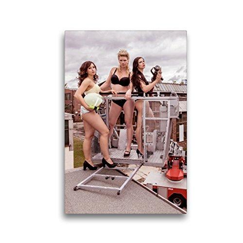 CALVENDO Premium Lienzo de 30 cm x 45 cm de Alto, Sexy Bomberos Imagen de Pared, Imagen en Bastidor, Listo en Lienzo auténtico, impresión en Lienzo Menschen Personas