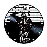 Smotly Vinilo Pared Reloj, Pink Floyd decoración de la Pared Tema de Gran Reloj, Pared Hecha a Mano de Regalo Ideal Creativo Reloj (Gancho de Regalo)