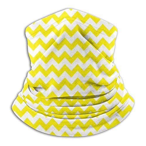 Zickzag bivakmuts, geel en wit, warm, winddicht, voor gezicht, uv, gezichtsmasker, sjaal, bivakmuts, voor outdoor sport
