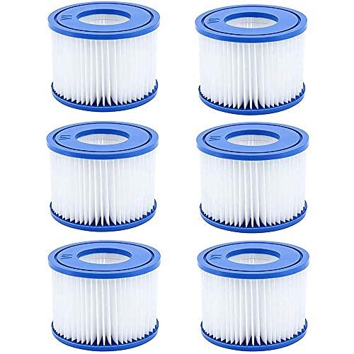 QYHSS Cartucho Filtro de Piscina Tipo, VI Cartucho de Filtración, Cartuchos De Filtro para Piscina, Accesorios De Filtro De Limpieza De Piscina, para Bañera De Fácil Instalación (4Filtros)