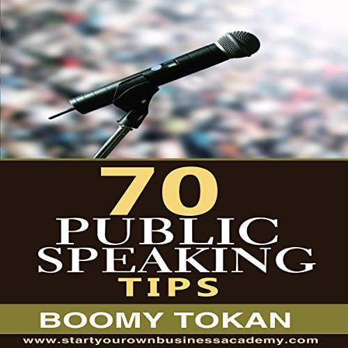 70 Public Speaking Tips audiobook cover art