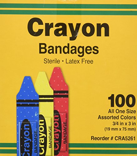 ASO Corporation Bandages, Crayon Strips, Adhesive, 100/BX (AGPCRA5261) Category: Bandages and Dressings