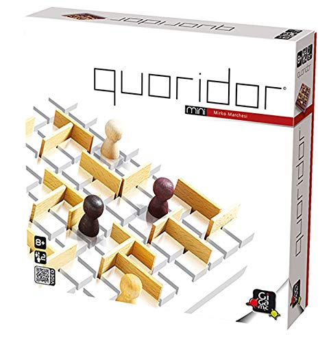 GIGAMIC QRM Quoridor Mini - Juego de Estrategia con Piezas de Madera...
