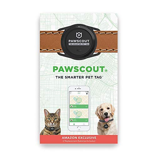 Pawscout Smarter Pet Tag (New Version 2.0) - Cat & Dog Tag, Lost Pet Alerts, Bluetooth Virtual Leash, Medical Profile, Walk Tracker, Pet Points of Interest, No Monthly Fees