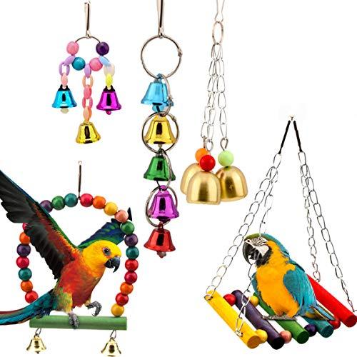 Homkeen - Juego de 5 perchas para pájaros