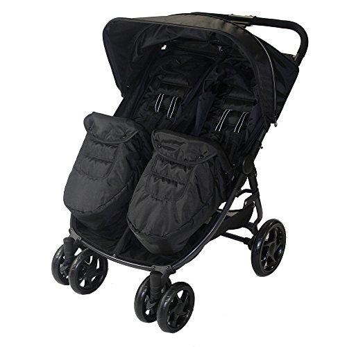 Red Kite Push Me Twini Carbon Twin Stroller, Black