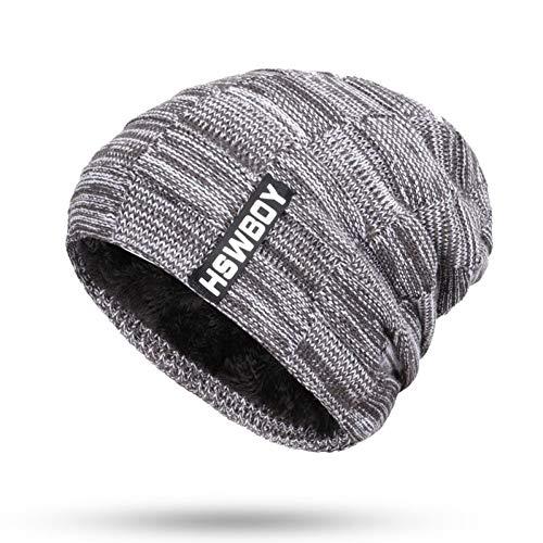 FYUCR muts hoed sjaal 2 sets winter unisex hoed gebreide beanie van mannen de winter plus fluweel dik katoen zachte hoed sjaal botten