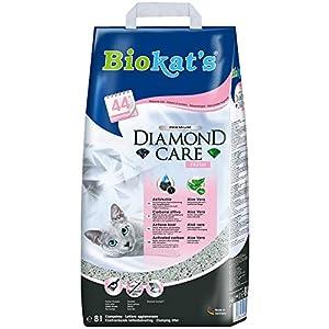 Biokat's Diamond Care Fresh mit Duft - Feine Katzenstreu mit Aktivkohle und Aloe Vera - 1 Sack (1 x 8 L) 2