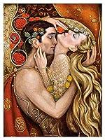 子供のための数字の数字で塗る9枚の塗料9 - 塗料のための数字のキット - apaint-apaint - apaint by数字キャンバキャンバスアート家の装飾フレームレス - エンブレース男性と女性 (Size : 50x60cm)