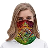 Metatron s Cube with Merkabah And Flower of Life Halloween Outfit Rave Face cover Headband Bandana Hair Ties Neck Scarf for Men and Women