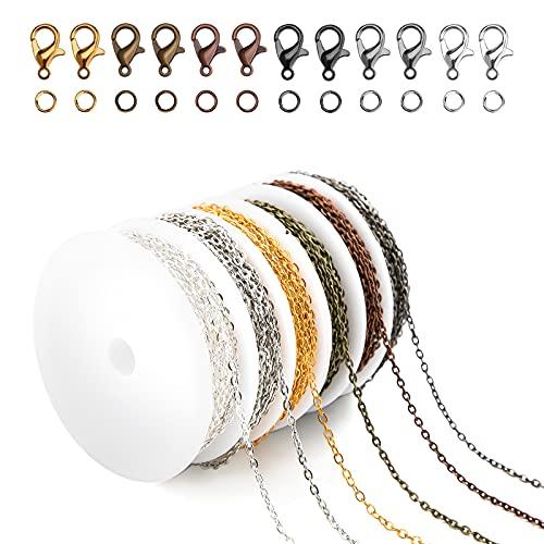 LUTER 2 mm 6 Colores Enlace de Fabricación de Joyas con Anillos de Salto Abiertos Cierres de Langosta para Manualidades, Suministros de Joyería