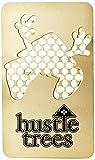 Hustle Trees Men's Metal Card Grinder, Shiny Gold, One Size
