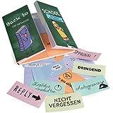 OfficeTree 480 Haftnotizen lustig für Studenten - Klebezettel im Back to School Design als Büro Gadgets - Funny Sticky Notes für die Linke sowie Rechte Buchseite