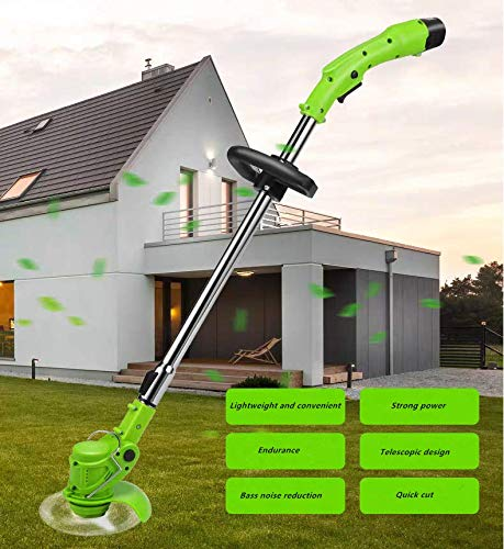 Zxx1 Agricultural Household Cordless Weeder 12V Lithium Battery Portable Garden Pruning Tool Grass Pruning Machine Brushing Machine Copper core Motor Provides Powerful Power
