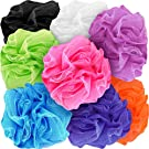 Counterfeit Blonde's Mesh Bath Sponges, (8-Pack) Multi-Color Bath Loofah Sponge Assortment