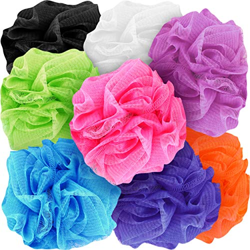 Counterfeit Blonde#039s Mesh Bath Sponges 8Pack MultiColor Bath Loofah Sponge Assortment