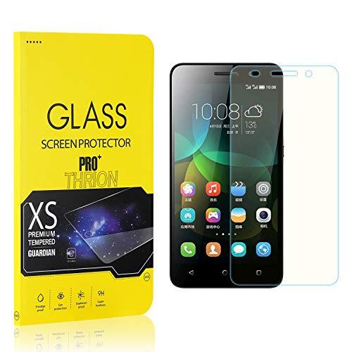 THRION 4 Stück Panzerglas für Honor 4C, Schutzfolie 2.5D HD Clear 9H Festigkeit Anti-Kratzen Blasenfrei Bildschirmschutzfolie Folie für Huawei Honor 4C