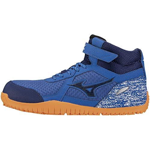 [ミズノ] 安全靴 オールマイティ SD13H 軽量 メッシュ ハイカット JSAA・普通作業用(A種) メンズ ブルー×ネイビー×ブルー 24.5 cm 3E