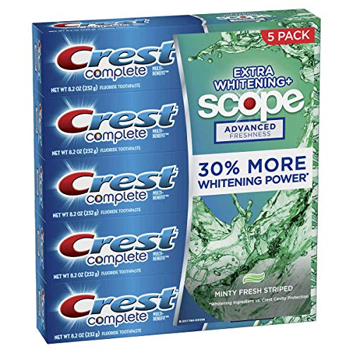 Crest Complete Advanced Flavoridetoothpaste 5 Pack 8.2 Oz Net Wt 41 Oz