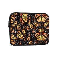 オレンジのモナーク蝶の山 タブレットバッグ Ipad 収納袋 ライナーバッグ おしゃれ 軽量 シンプルさ ビジネスバッグ 防水 耐衝撃性 耐摩耗性 インナーバッグ