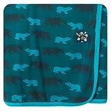 KicKee Pants 赤ちゃん包み用ブランケット カラー: ブルー