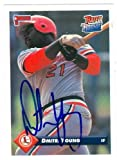 Autograph Warehouse 585682 Dmitri Young Autographed Baseball Card - St. Louis Cardinals - 1992 Donruss Rated Rookie. rookie card picture