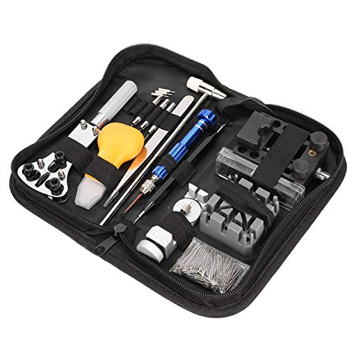 Watch Repair Kit, 122PCS Watch Case Opener Spring Bar Tools for Watch Battery Replacement Watch Strap Adjustment, Watch Band Link Pin Tool Set with Carrying Case
