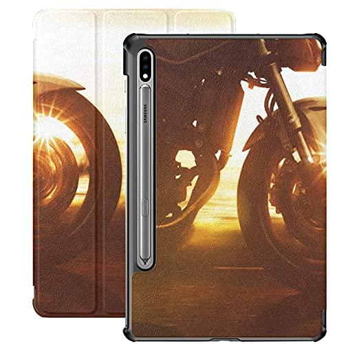 Coche moto bajo el cielo caso Galaxy S7 para Samsung Galaxy Tab S7/s7 Plus Samsung Tablets caso soporte contraportada Galaxy Tab S7 caso para Galaxy Tab S7 11 pulgadas S7 Plus 12.4 pulgadas