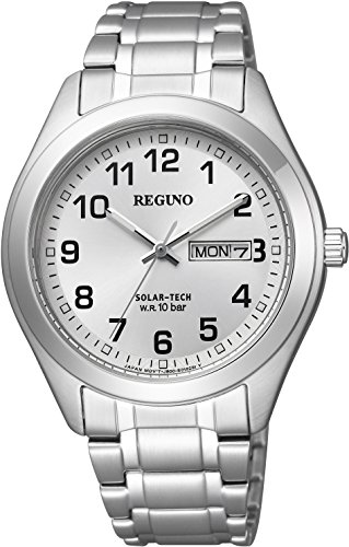 [シチズン] 腕時計 レグノ ソーラーテック スタンダード 10気圧防水 デイ&デイトモデル メタルフェイス KM1-016-13 シルバー