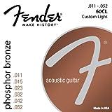 Fender 073-0060-405 60CL .011 - .052 Corde per chitarra acustica leggera personalizzata in bronzo fosforoso