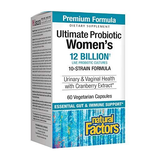 Natural Factors, Ultimate Probiotic Women's, Support Digestive, Immune and Vaginal Health, 12 Billion CFU, 60 Capsules