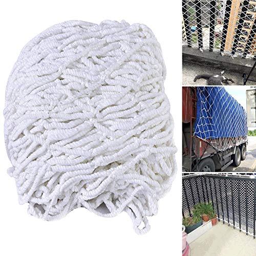 WGE nylon veiligheidsnet, veiligheidsnet, siernet, breedte 5 m/16.4 ft, valbeveiliging, tuinkuitnet, gevogelteenhek (bovenste afdekking)