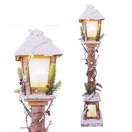 CONCEPT4U, lampada a LED in legno con punta di neve da 85 cm, ideale come decorazione per la casa e la sala da pranzo, ideale per le vacanze