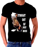 Straight Outta Hollywood Clint Eastwood T shirt California State Silhouette
