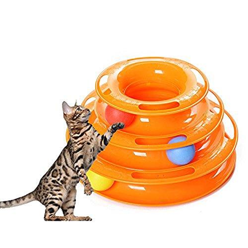 super-bab Cat Toys tre livelli Tower Tracks disco Cat Pet Toy intelligence Amusement Rides mensola