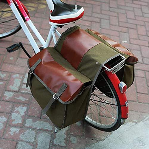 CAISYE Borse Portapacchi Multifunzione per Bicicletta Borsa A Tracolla O Valigetta Borse Portapacchi Vintage Portaborse per Sedile Posteriore per Mountain Bike MTB