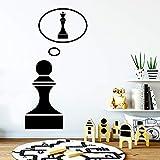 SLQUIET Decoración del hogar Pegatinas de pared con ajedrez creativo Pegatinas de arte de pared Material de PVC Papel pintado extraíble Hogar y jardín Pegatinas de pared de moda Verde XL 57cm X 75cm