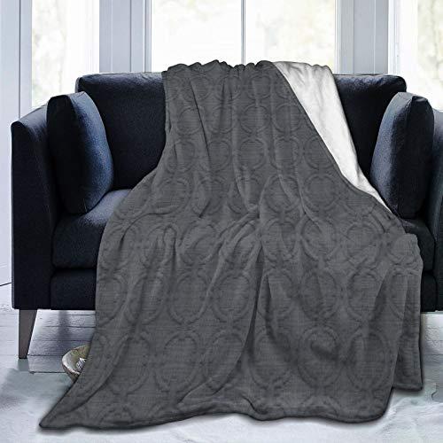 Bernice Winifred Sutil Tela Gris carbón para Hombre, Uso repetido, Manta de Microfibra Ultra Suave Hecha de Franela Anti-Pilling, más cómoda y cálida.50x40