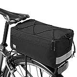 Jackallo Alforja de Bicicleta, Bolsa Trasera de Bicicleta de 8 l, Bolsa de Maletero de Bicicleta de Gran Capacidad, portaequipajes de Bicicleta Impermeable, Paquete de Soporte de Asiento Trasero