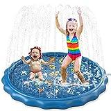 Jasonwell Sprinkler for Kids Toddlers Splash Pad Play Mat 60' Inflatable Baby Wading Pool Fun Summer Outdoor Water Toys for Children Boys Girls Sprinkler Pool for Alphabet Learning Age 2 3 4 5 6 7 8