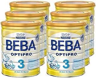 Nestlé雀巢 BEBA贝巴 OPTIPRO 3 婴幼儿奶粉 (10个月以上)可重复密封,辅食 6罐(6 x 800克)(不含助溶剂,冲泡需用力摇,冲后有结晶非?#20998;饰?#39064;,请放心食用)