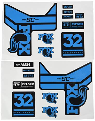 Adesivi forcella per bicicletta modello 2018 Fox 40 Performance Elite Front Fork Sticker Bike 40 Fox Fork Decals Original Blu chiaro