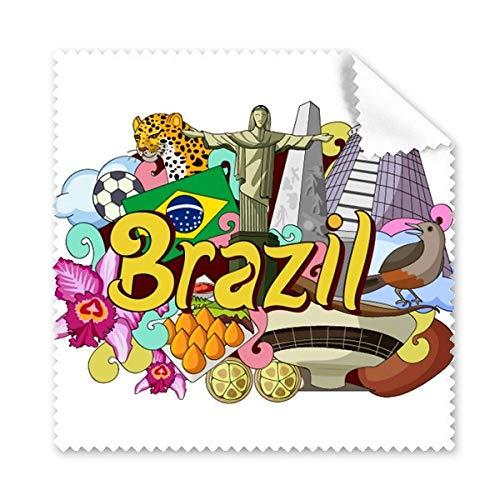 Fußball Oscar Niemeyer Brasilien Graffiti Gläser Tuch Reinigungstuch Geschenk Handy-Display von 5x