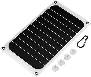 Noir REFURBISHHOUSE 15W 5V 2A Panneau Solaire Pliab le pour Camping-Car Sun Power avec Chargeur Solaire