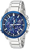 casio men's 'edifice solar connected' quartz stainless steel casual watch, color:silver-toned (model: eqb-501db-2acf)