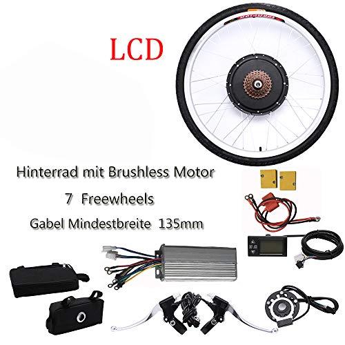 SENDERPICK Kit de conversión de motor para bicicleta eléctrica de 26 pulgadas, 250 W, motor trasero con pantalla LCD (36 V)